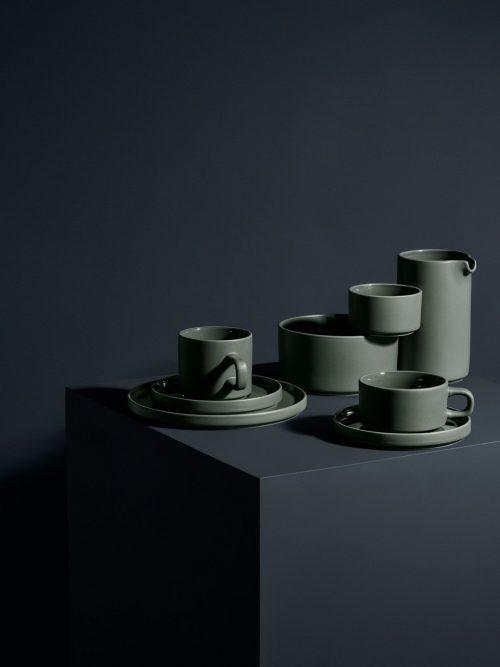 kopp med fat 2 pack - agave grön